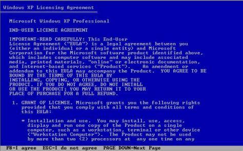 Windows Xp licensing