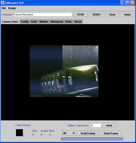 CMUcam2 GUI