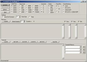 interface terminal serial