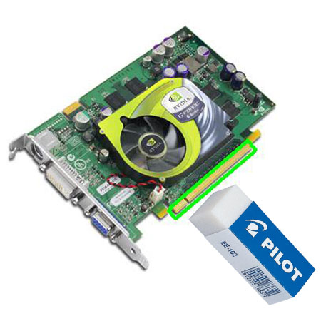 Bersihkan Jalur VGA card
