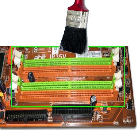 Bersihkan slot RAM