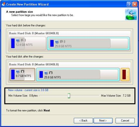 Create new partition wizard2